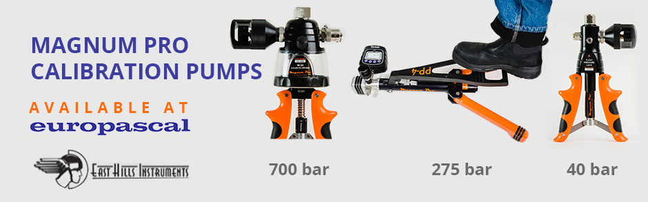 Magnum Pro Calibration Pumps, available at europascal